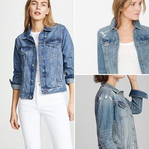Express Denim Distressed Jacket